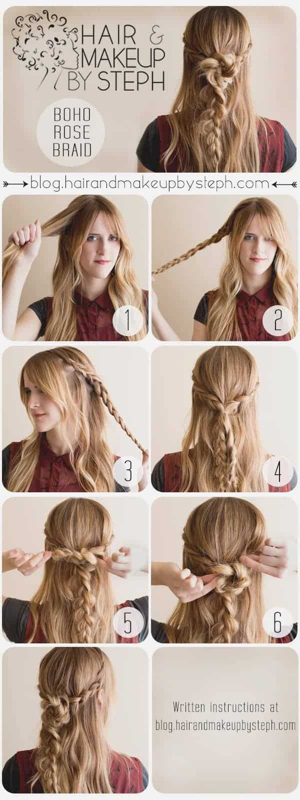 bohemian hairstyles MAking by steph