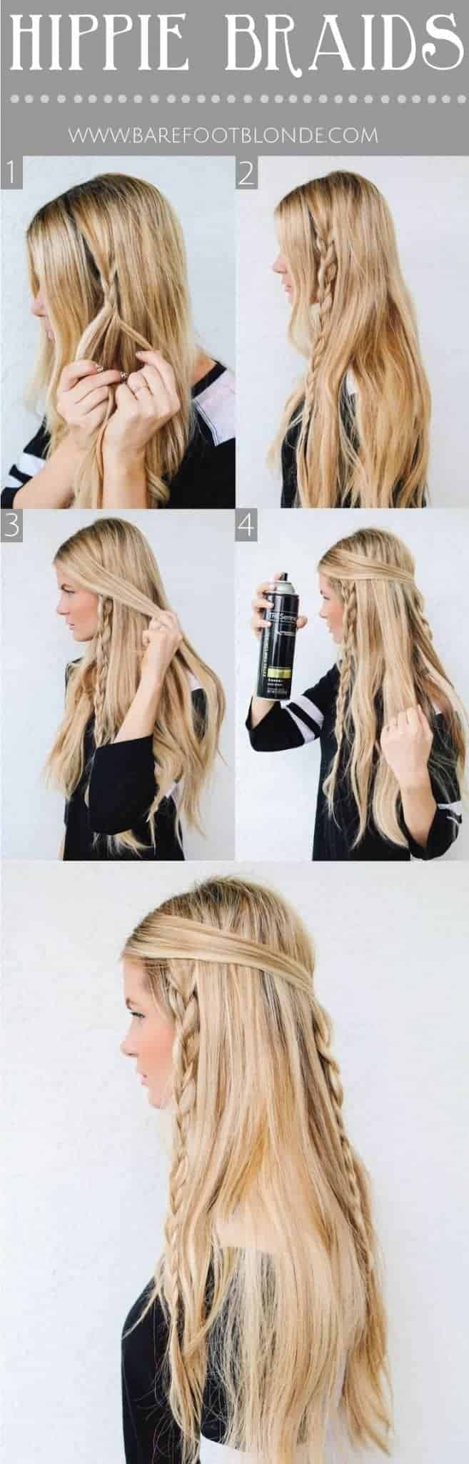 Hippie hairstyles for hippie braids