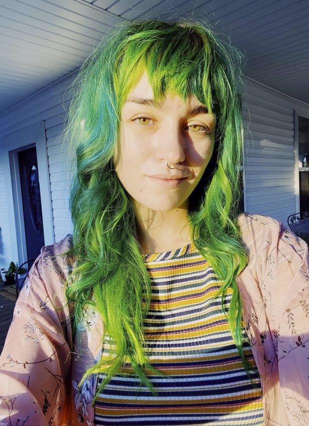 Green Choppy hair and hairstyles