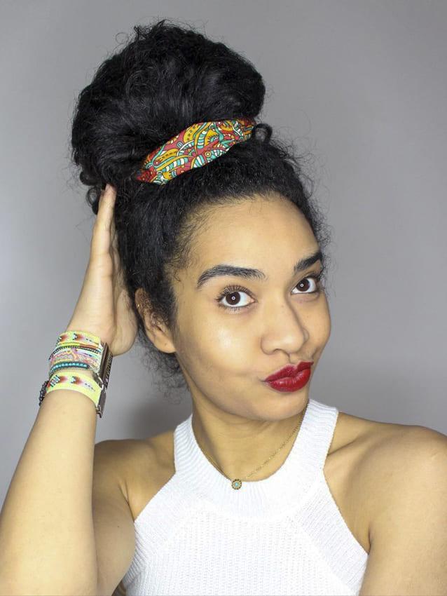 Hair bun for black women