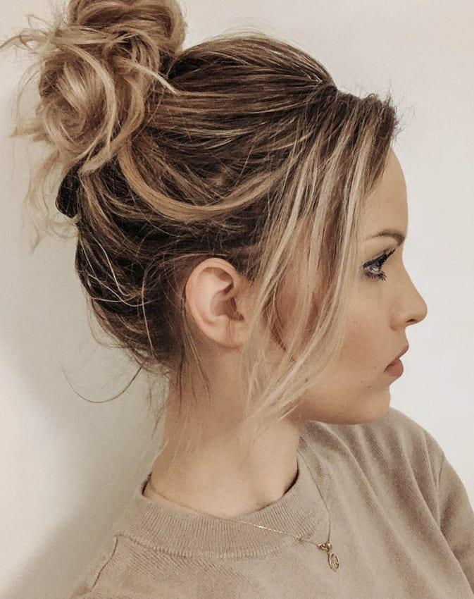 Hair bun for blonde women