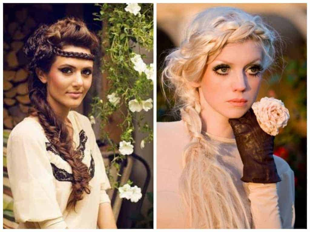 Hippie hairstyles for black color hair and blonde hiar