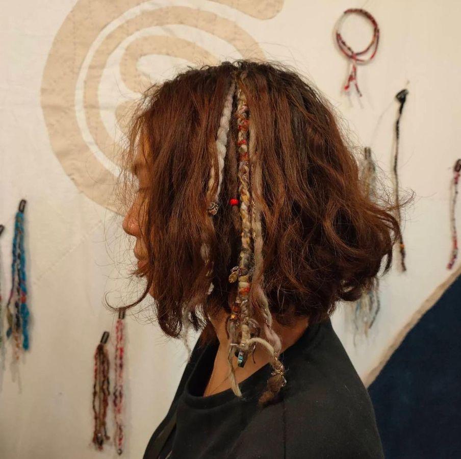 Hippie hairstyles for short hair