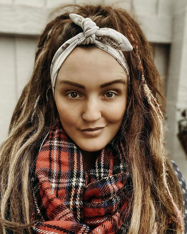 Hippie hairstyles with bandana