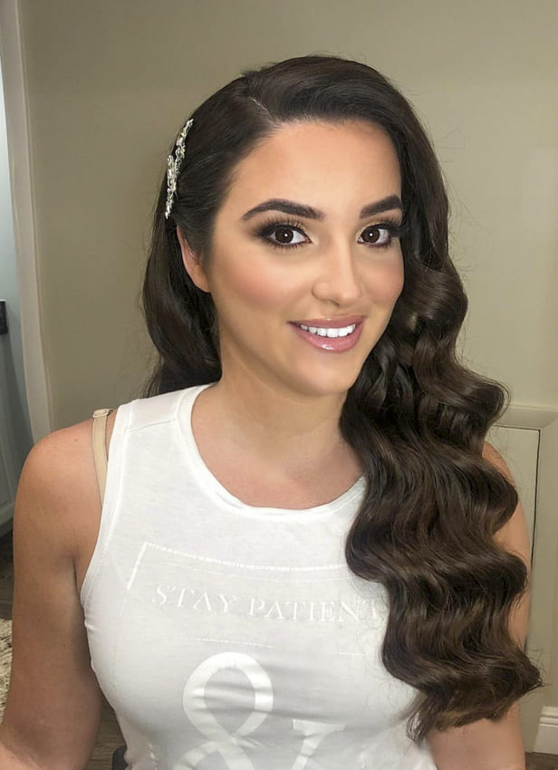 Layered side bridesmaid hairstyles