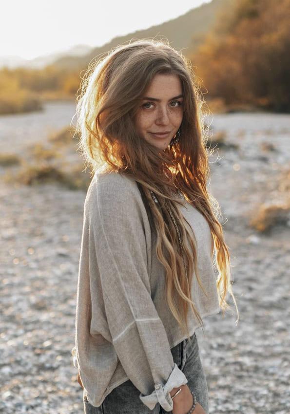 Long Brown Boho Hair