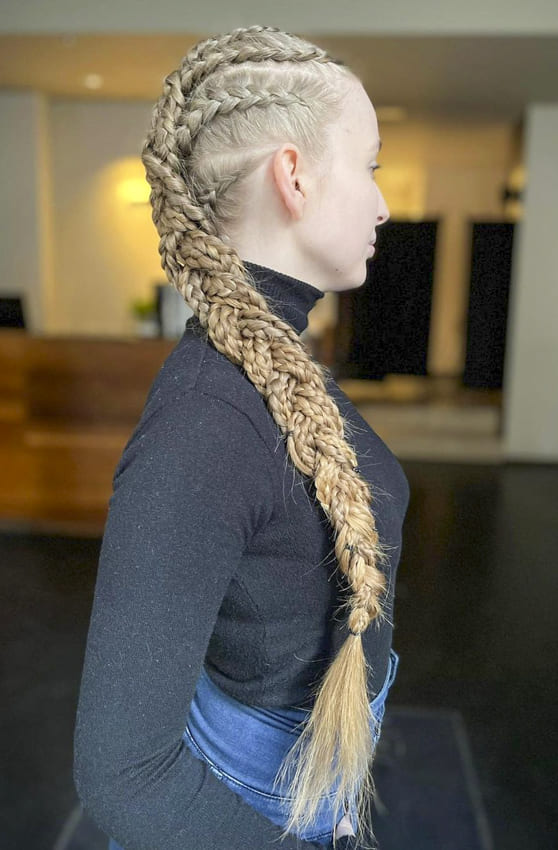 Long formal french braids hair hairstyles