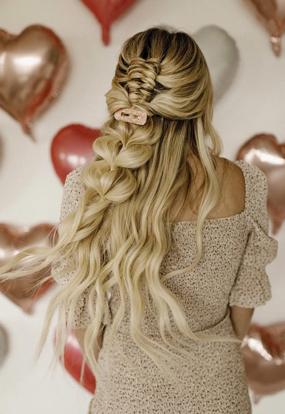 Long prom french braids hairstyles