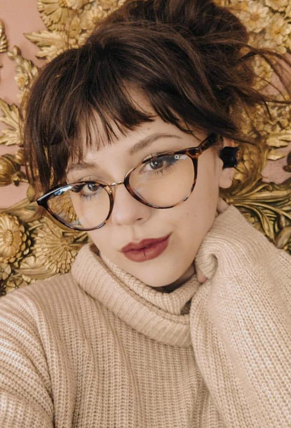 Lovely bangs iwth glasses