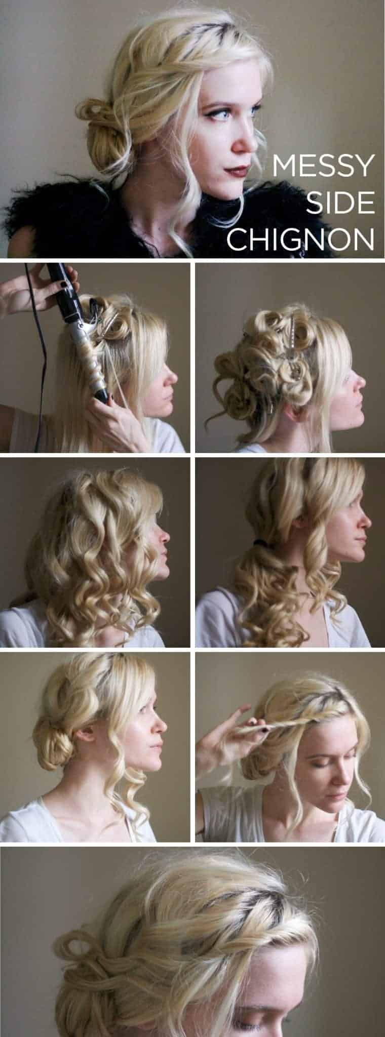 Cute messy updo hairstyles for blonde girls