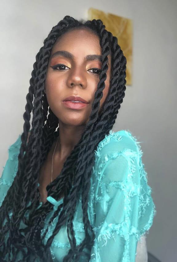 Natural twist hairsyles for black women