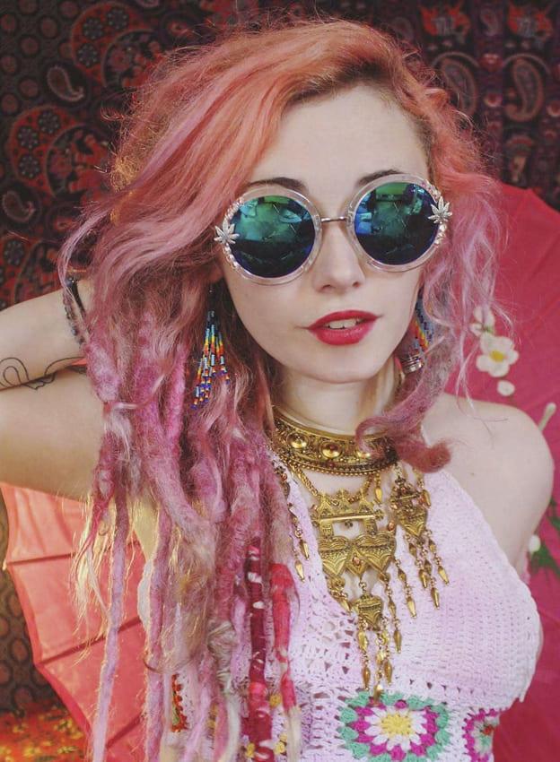 Pink Boho Hair