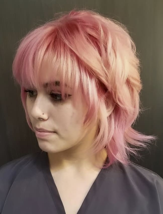 Pink short Choppy Hair and Hairstyles