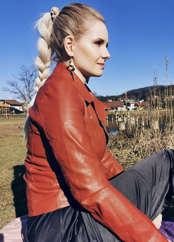 Platinum blonde long french braids
