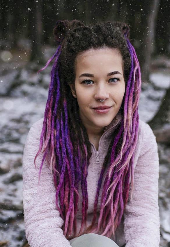 Purple Long Boho Hair