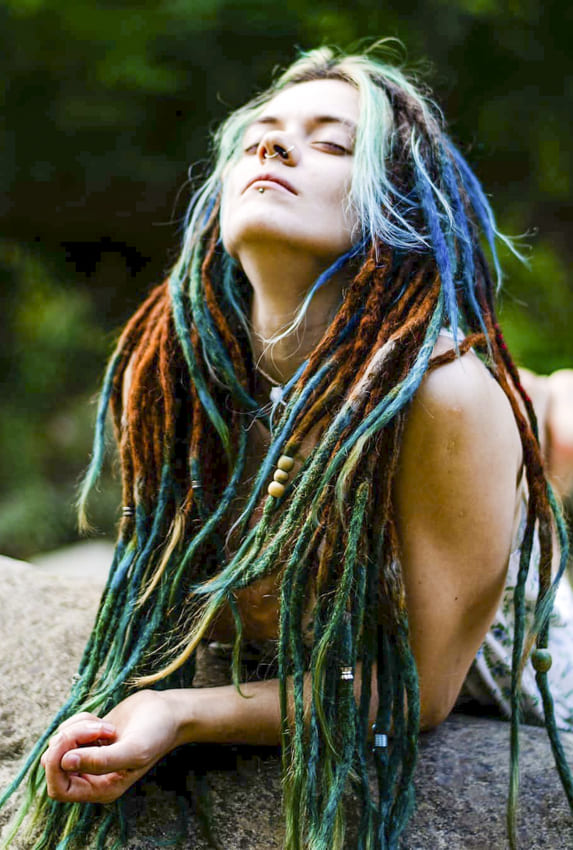 Rainbow Boho Hair