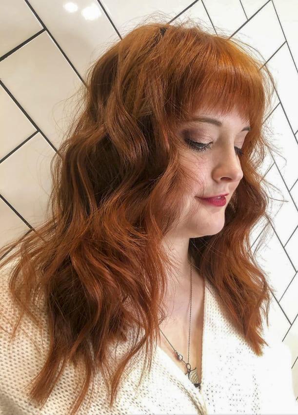 Red Choppy Medium hairstyles