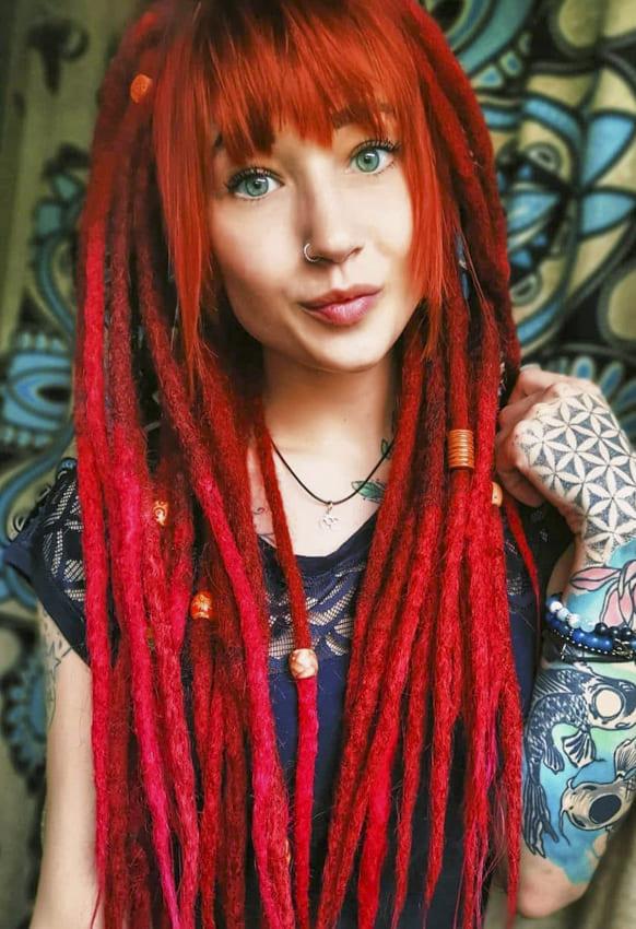 Red Conrow Boho Long Hair