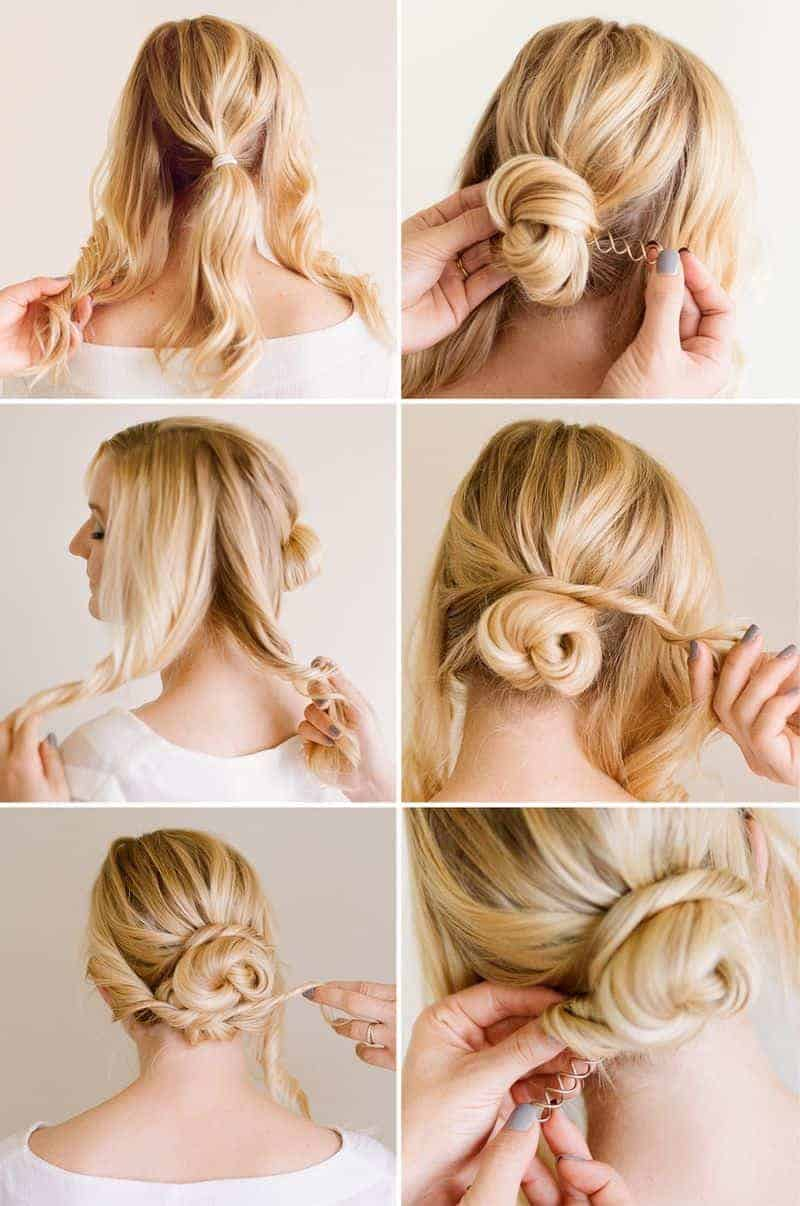 Easy Blonde bun hairstyles for Teenager girls