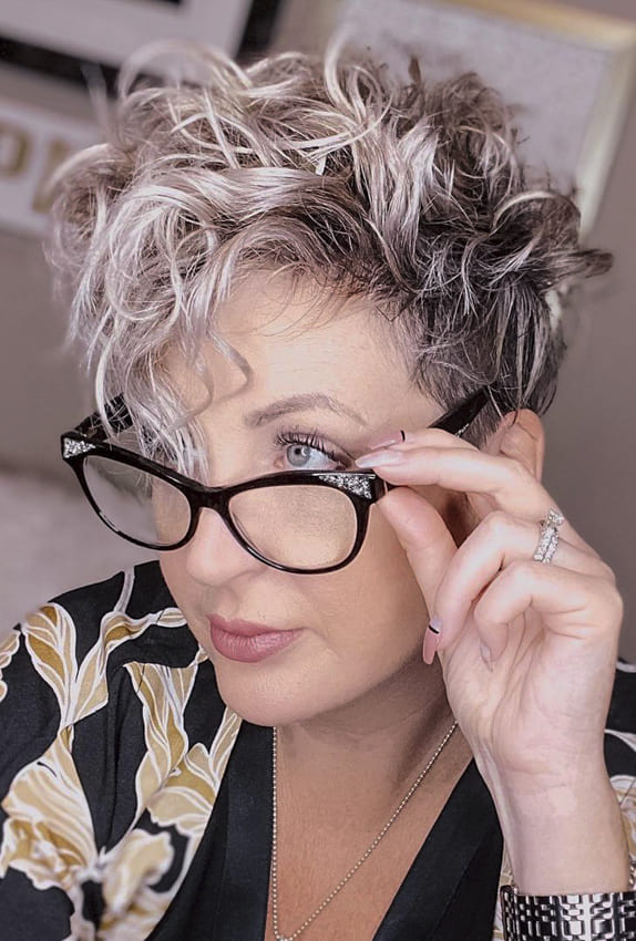 Short curly and pixie wavy hair