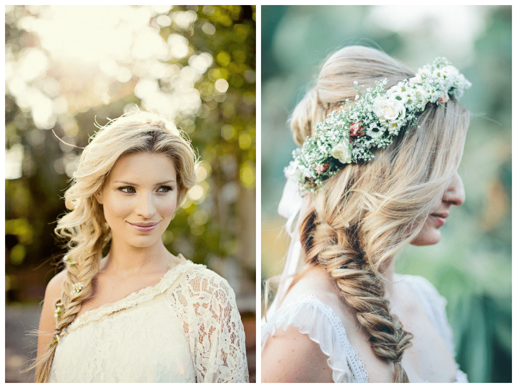Side Fishtail Hairstyles for Wedding