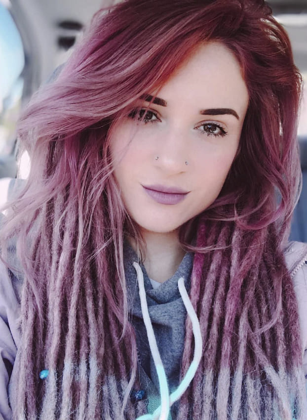 Soft Pink Ombre Boho Hair
