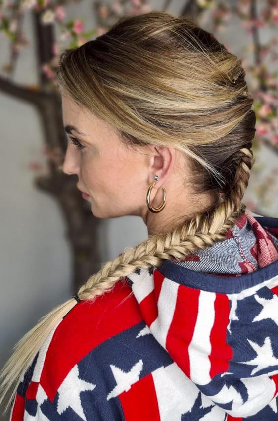 Thin hairstyles french braids