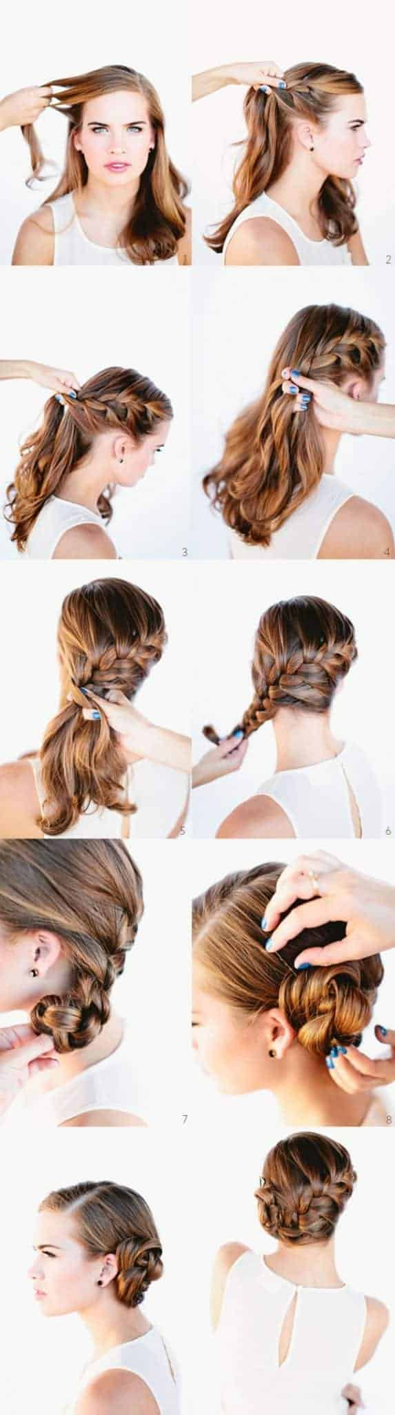Side bun hairstyles for bridesmaid