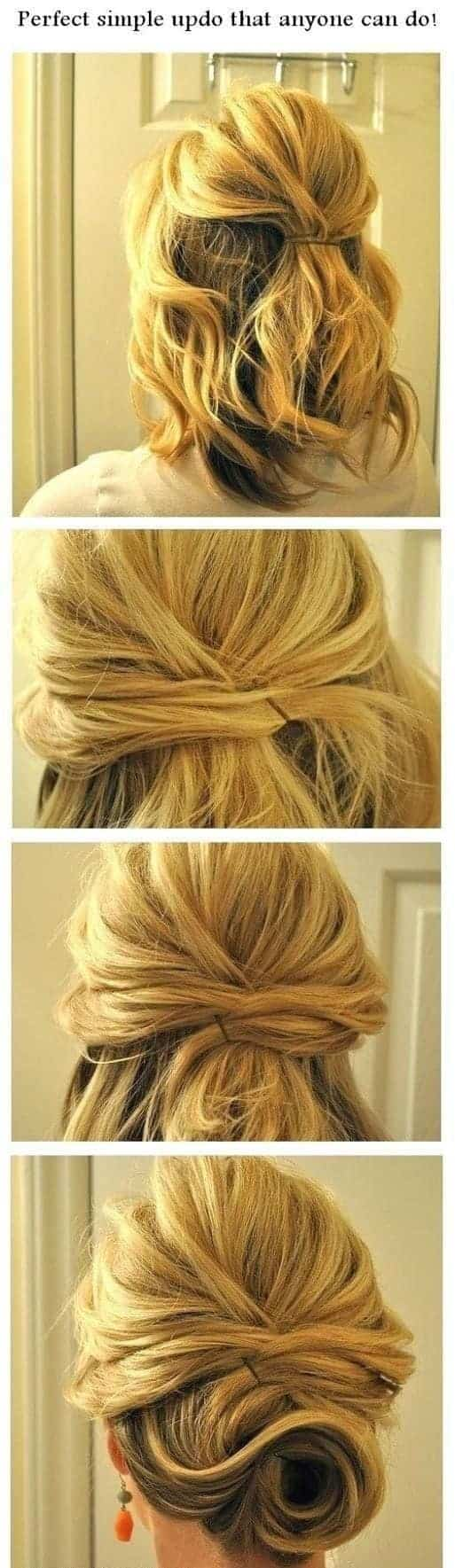 HD wallpapers medium length hairstyles for thick hair updo