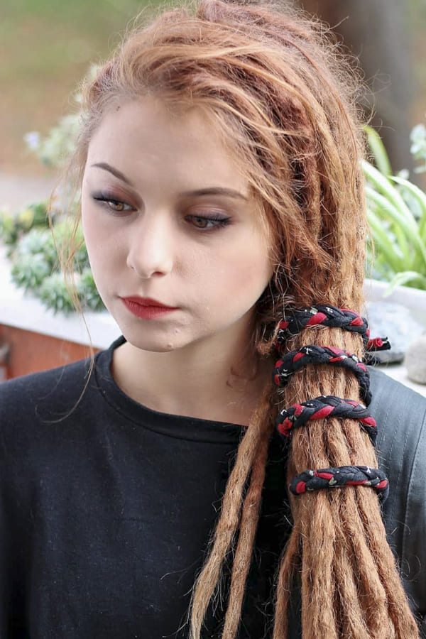 hippie hairstyles long red hair