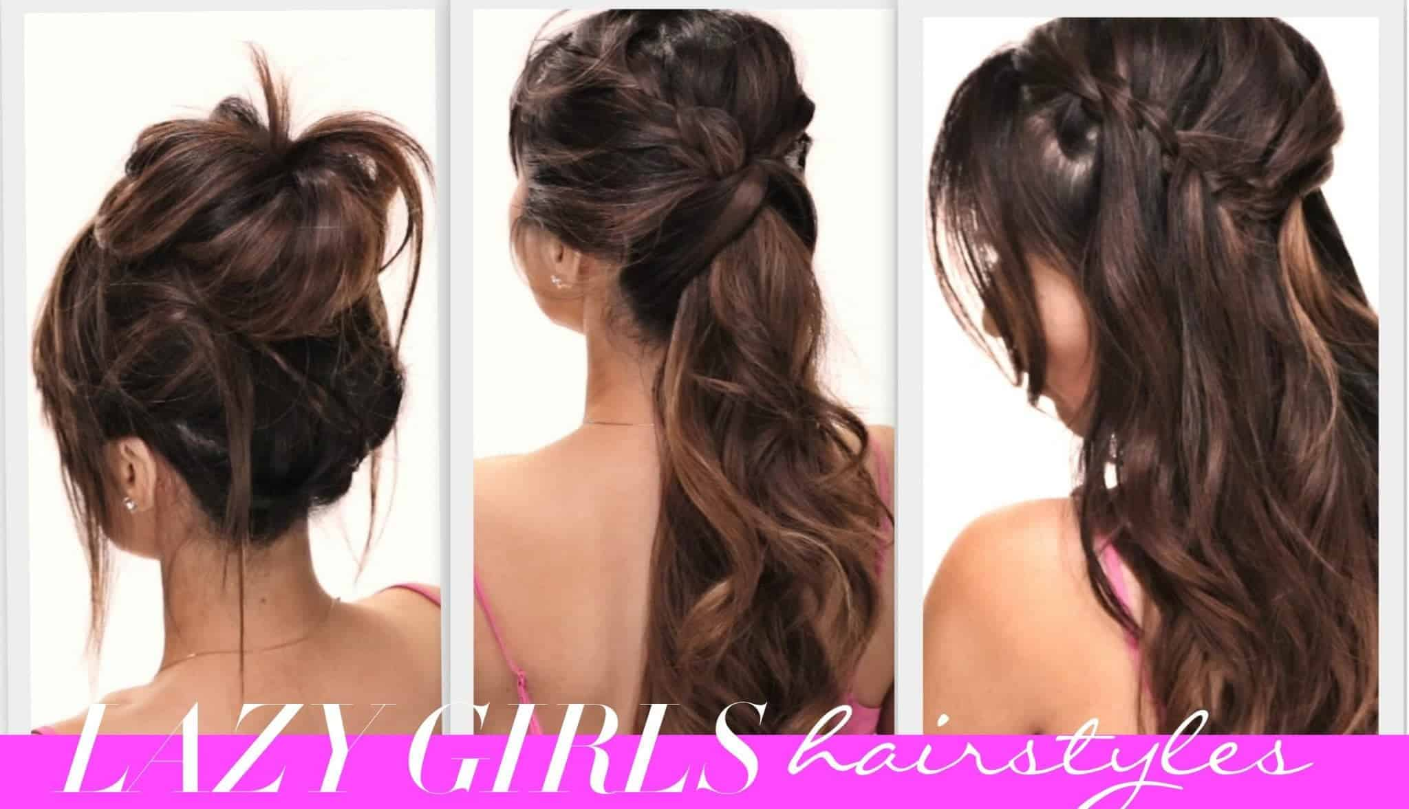 Messy hairstyles for long hair and updo