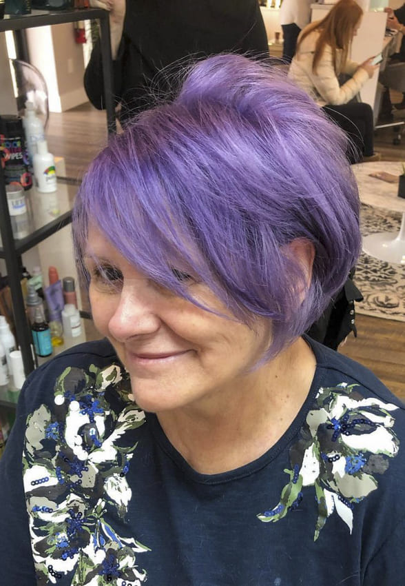 over 50 purple funky hairstyles