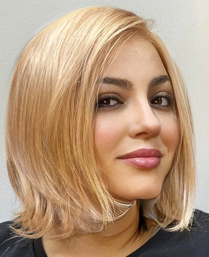 short blonde side bangs hairstyles for fine hair