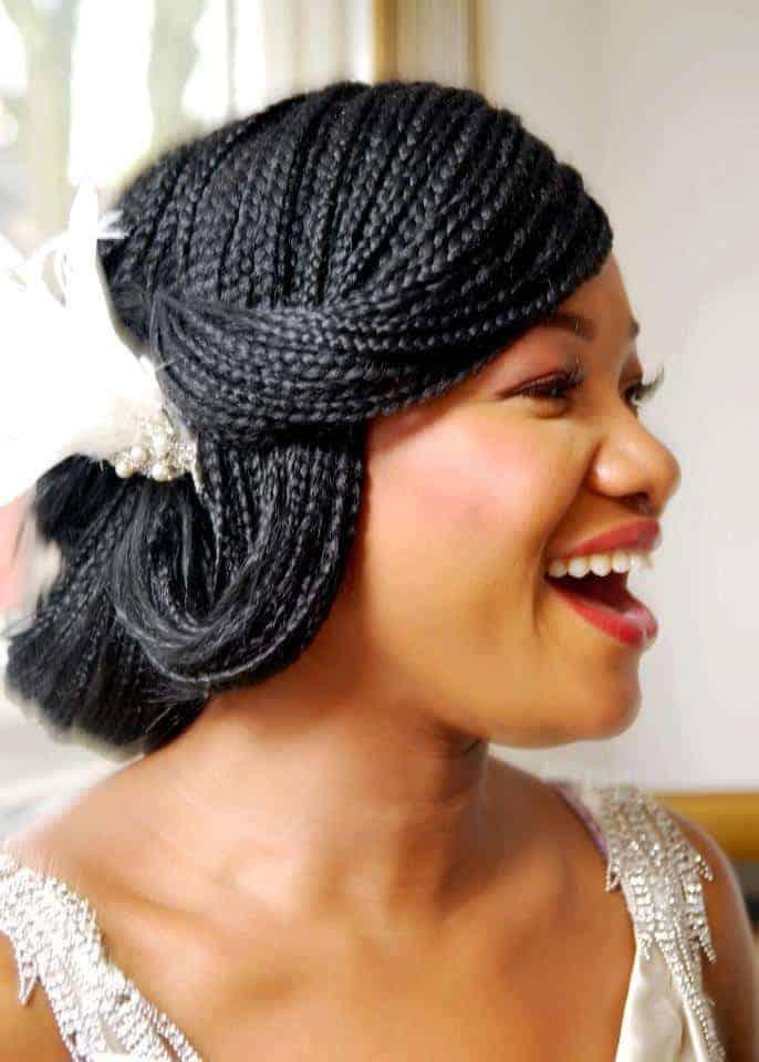 Peachy Micro Braids Updos Wedding Braids Short Hairstyles Gunalazisus