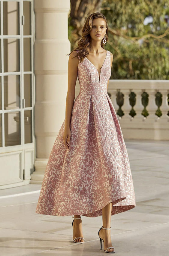 Floral cocktail dress for women
