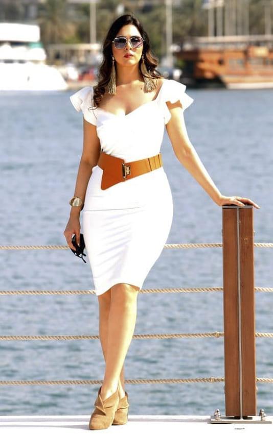 Garden white party dress for women