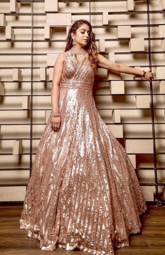 Glitter cocktail dress for women