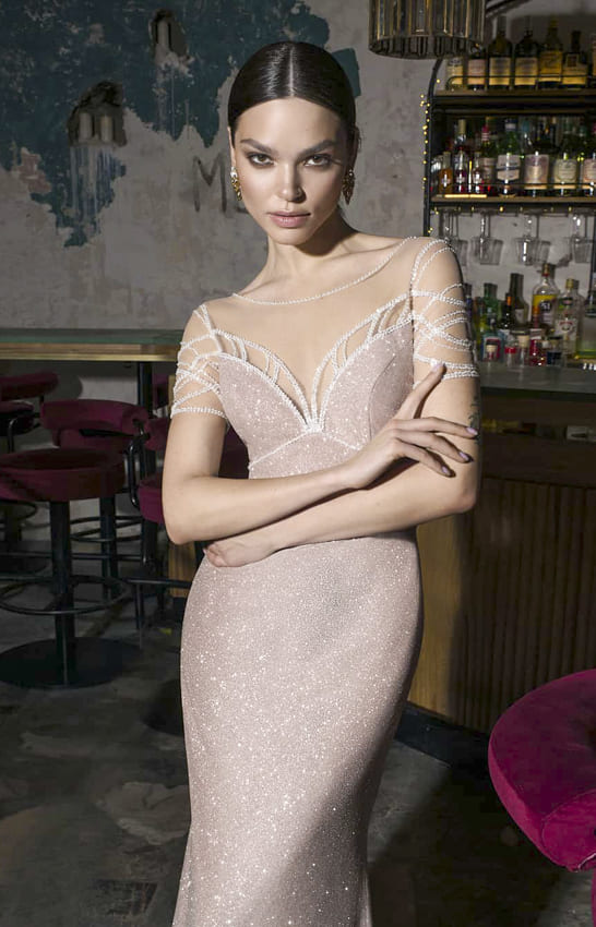 Ivory evening dress