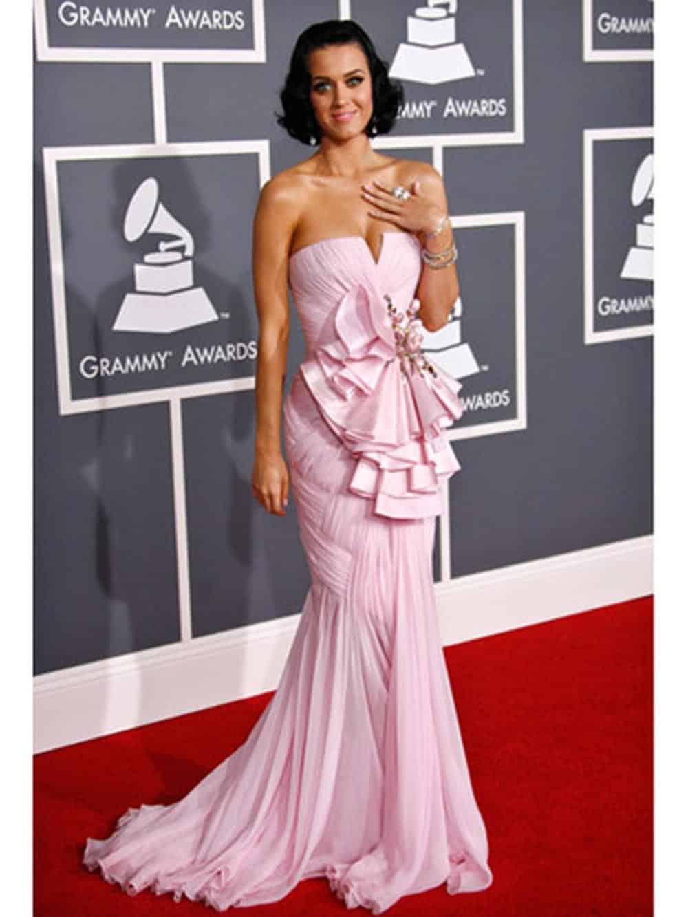 Katy Perry Pink evening dresses for prom