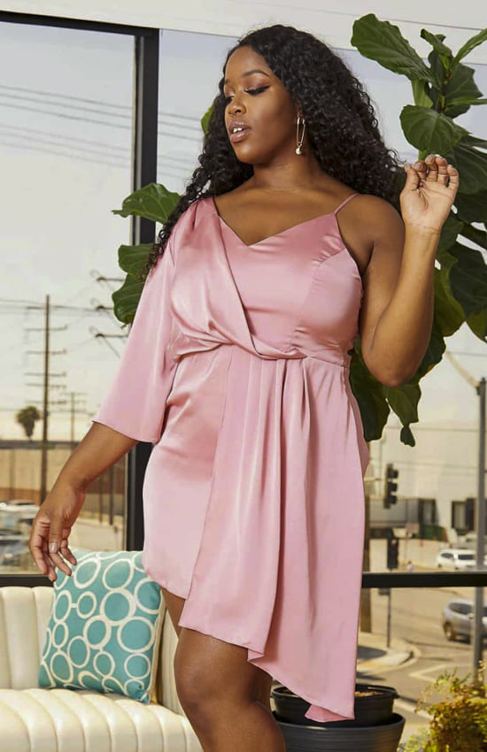 Pink Plus size club dress