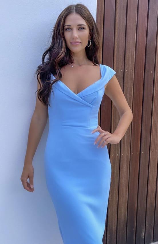 Blue cocktail dress for women