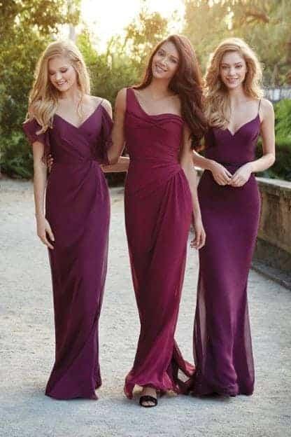 Purple Stylish dresses 3 girls