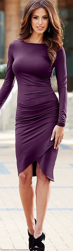 Purple Stylish dresses