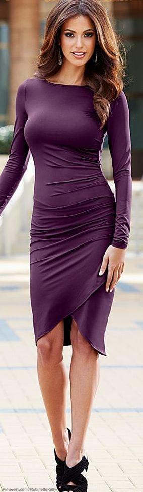 Purple Stylish dresses