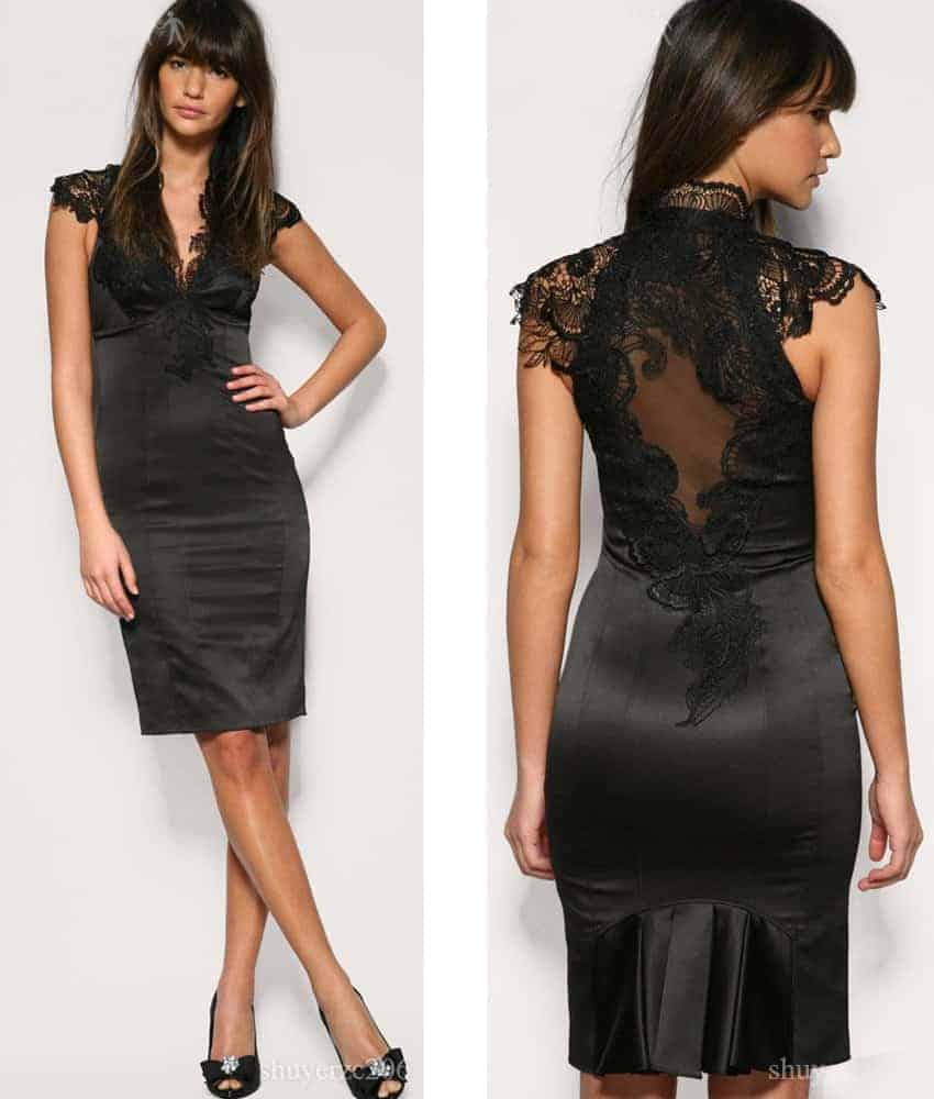 The stylish black dresses Women styles hairstyles makeup ...