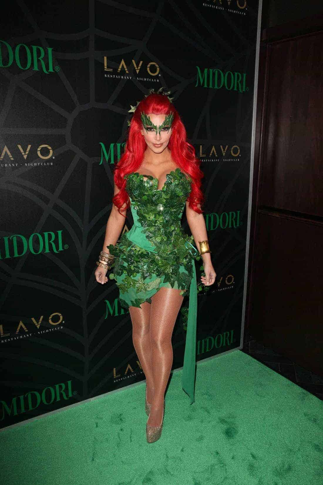 Kim Kardashian Night Dresses green color 2018