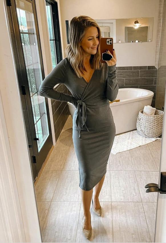 Long sleeve date night dress