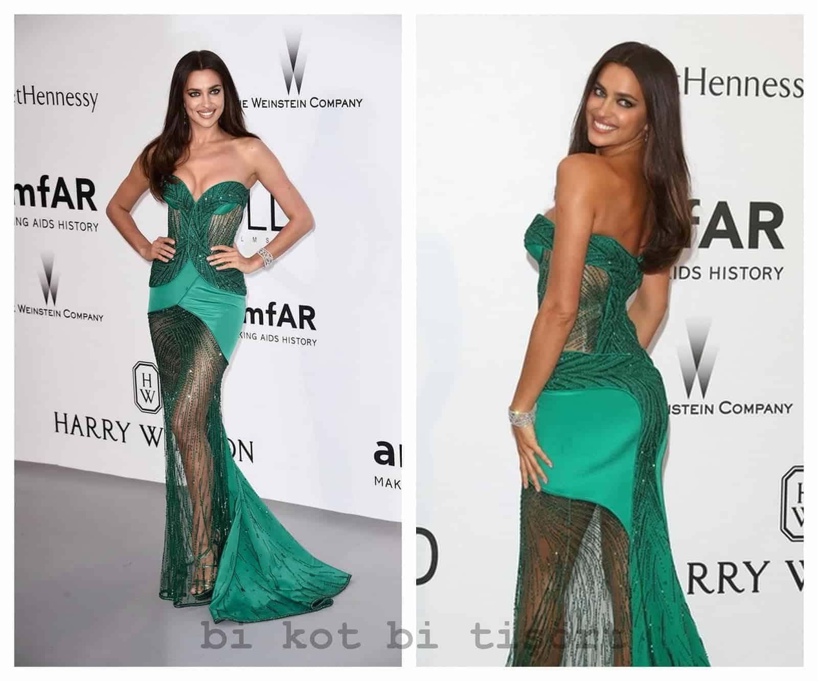 irina shayk green night dresses for beautiful ladies 2018