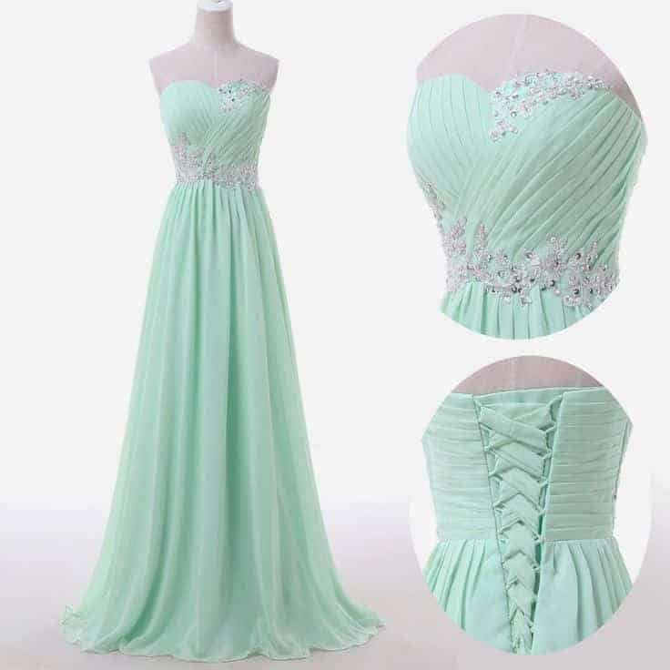 Elegant dresses for thick and beauty womens Green Color 2018