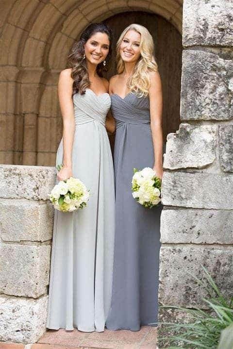 Different bridesmaid wedding dresses